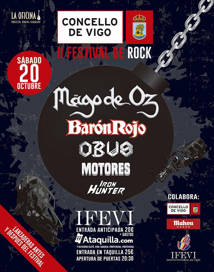 II Concierto de Rock: Mago de Oz, Obús y Barón Rojo en el Ifevi el 20 de octubre