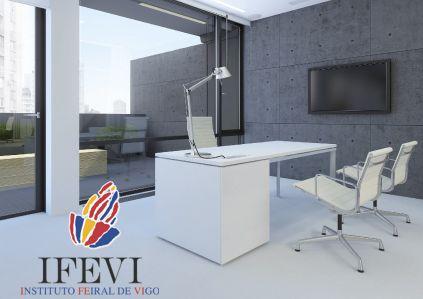 Lleno del IFEVI en los espacios destinados a oficinas